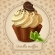 Vanilla Muffin Label - GraphicRiver Item for Sale