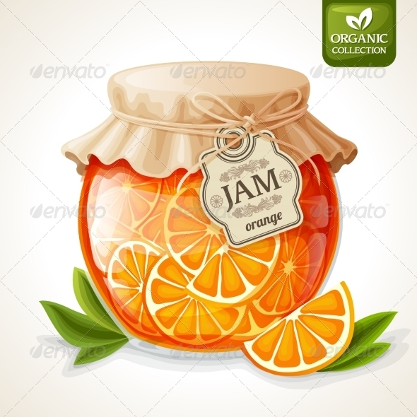GraphicRiver Orange Jam Jar 7799382