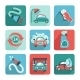 Car Wash Icons Flat - GraphicRiver Item for Sale
