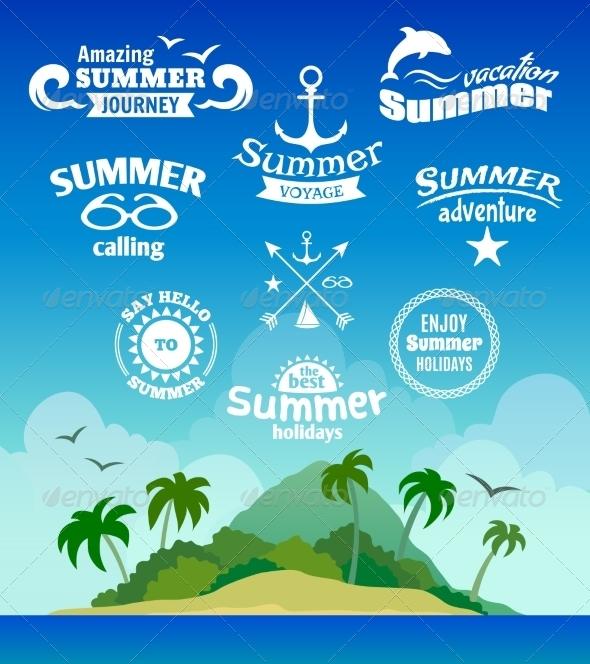 GraphicRiver Summer Element Label 7799552