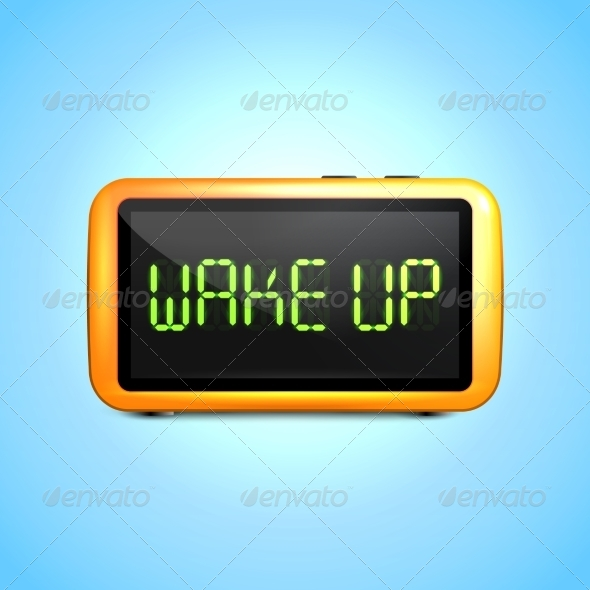 GraphicRiver Digital Alarm Clock Wake Up 7799591