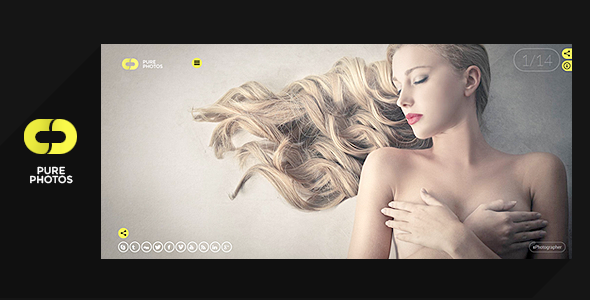 ThemeForest Pure Photo Multi-Purpose Photography Theme 7799600