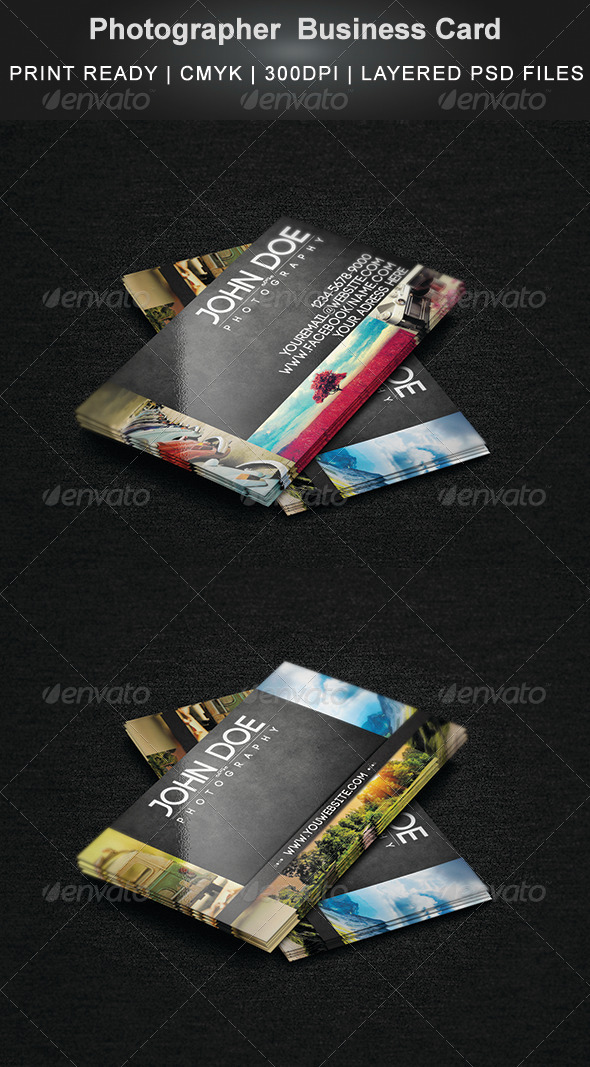 GraphicRiver Photographer Business Card 7800230