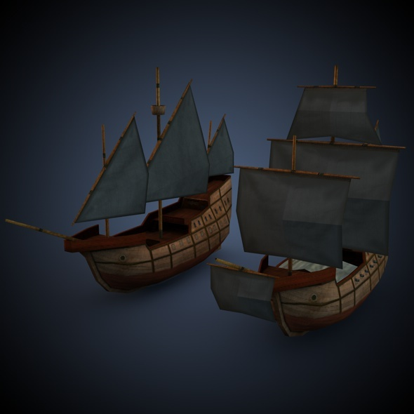 3DOcean Age of Sail Carrack 7793336