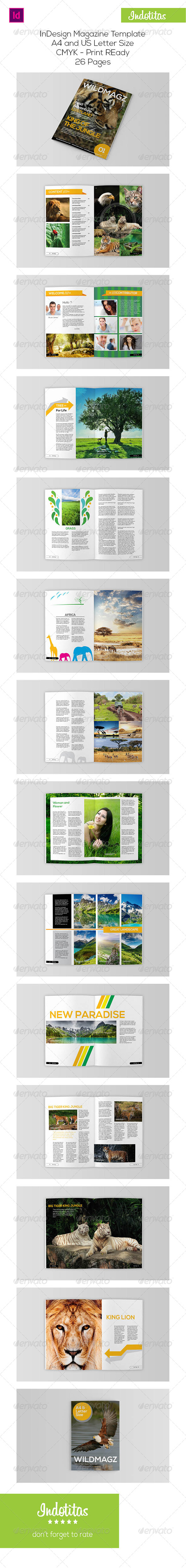 GraphicRiver Animal Magazine Template 7801058