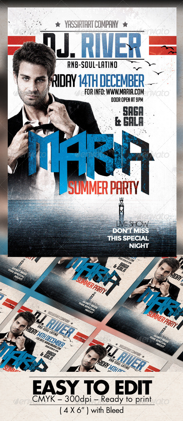 GraphicRiver Maria Party Flyer Template 7801072