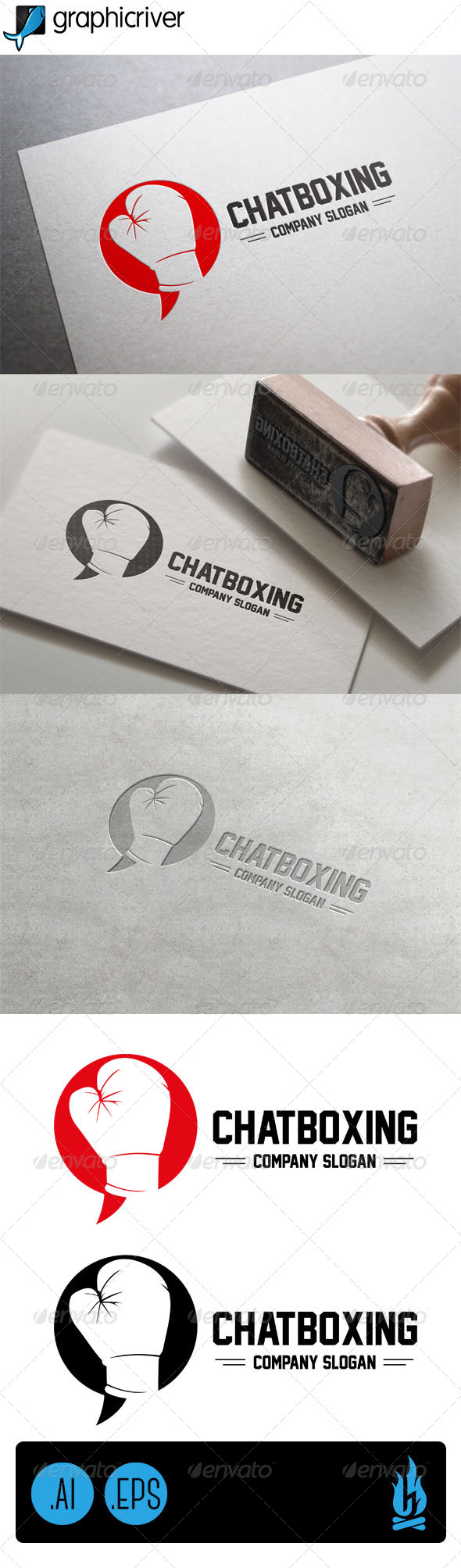 GraphicRiver Chatboxing Logo 7801084
