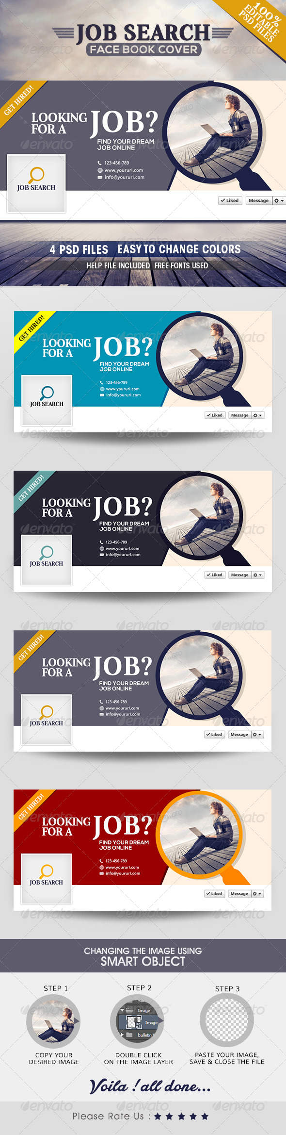 GraphicRiver Job Search Facebook Covers 7801262