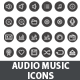Audio Music Icons - GraphicRiver Item for Sale