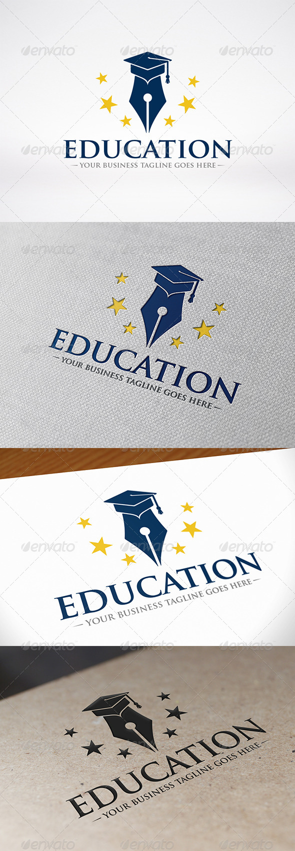 GraphicRiver Writer Education Logo 7802344