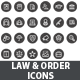 Law & Order Icons - GraphicRiver Item for Sale