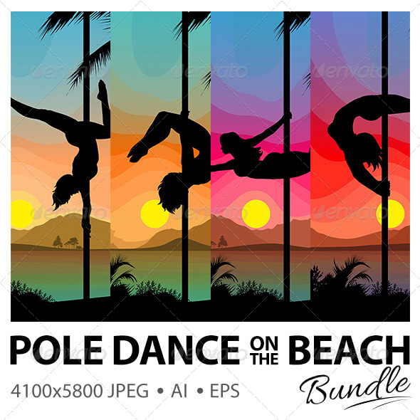 GraphicRiver Pole Dancers on the Beach 7803029
