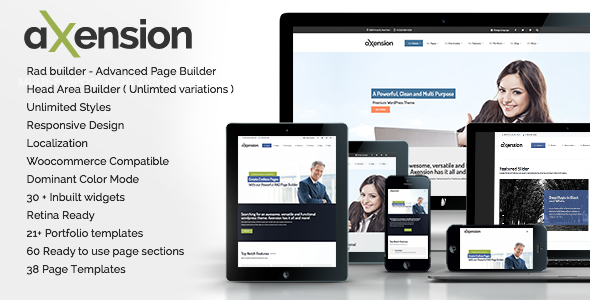 ThemeForest Axension Powerful Multi-Purpose WordPress Theme 7743329