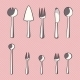 Vector Set of Cutlery Icons - GraphicRiver Item for Sale