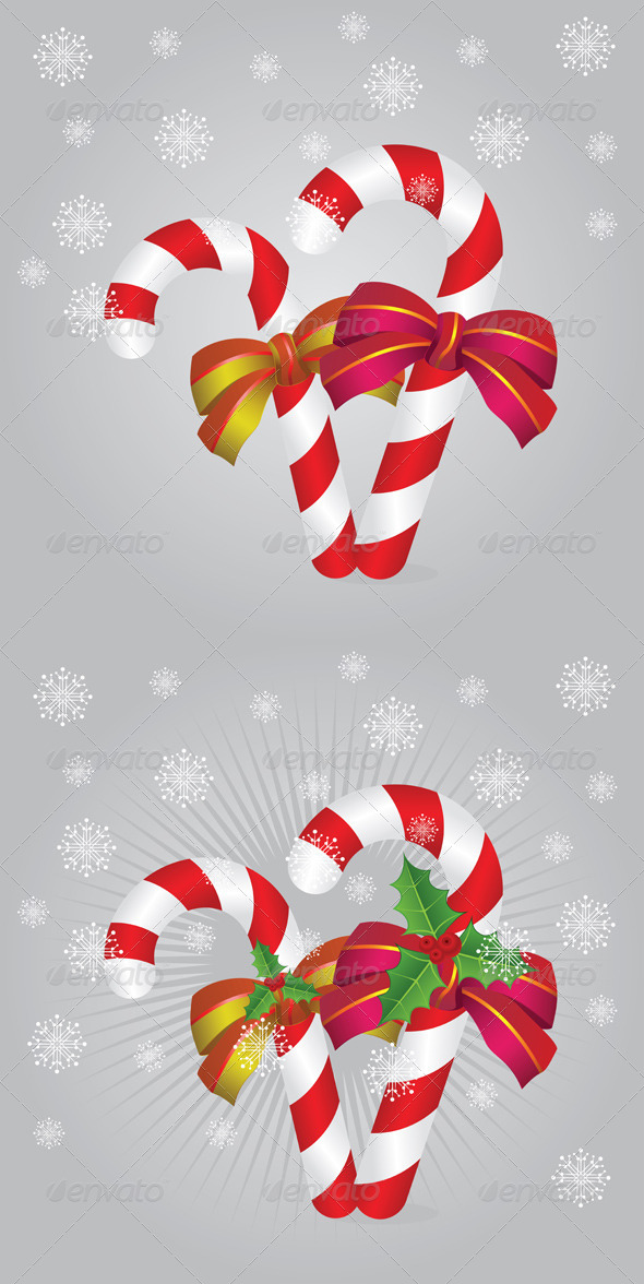 GraphicRiver Candy Canes Background 7805302