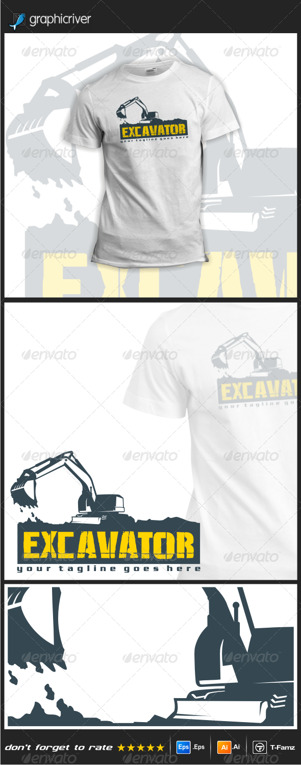 GraphicRiver Excavator T-Shirts 7806091