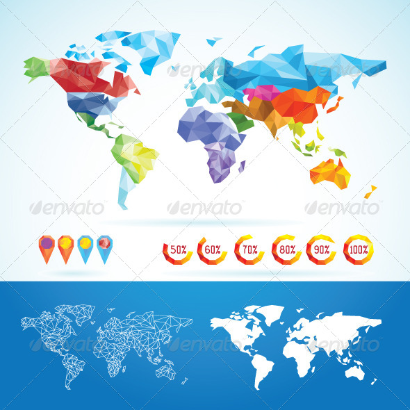 GraphicRiver World Map Low Poly 7806406
