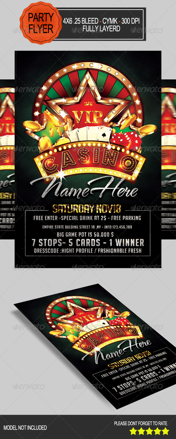 GraphicRiver Casino Flyer 7806415