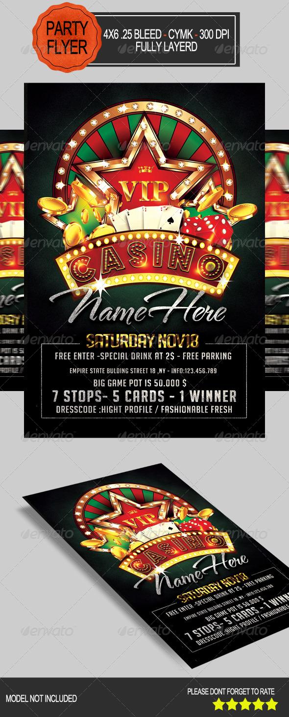 GraphicRiver Casino Flyer 7806415