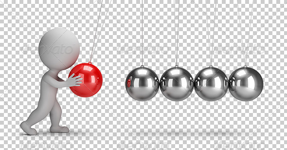 GraphicRiver 3D Small People Newtons Cradle 7806764