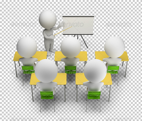 3d Small People Training Courses Graphicriver