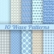 Different Wave Seamless Patterns - GraphicRiver Item for Sale