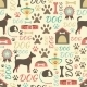 Retro Seamless Pattern of Dog Icons - GraphicRiver Item for Sale