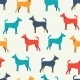 Seamless Dog Silhouettes Pattern - GraphicRiver Item for Sale