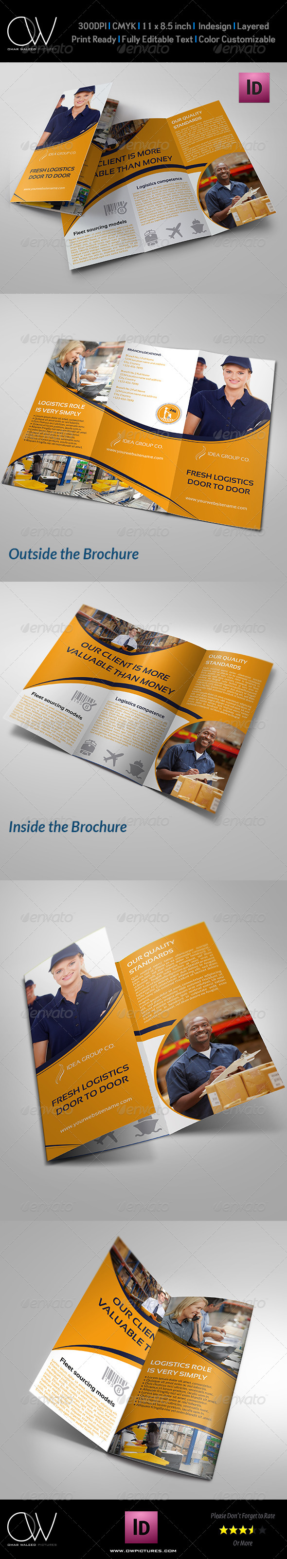 GraphicRiver Logistic Services Tri-Fold Brochure Template 7807411