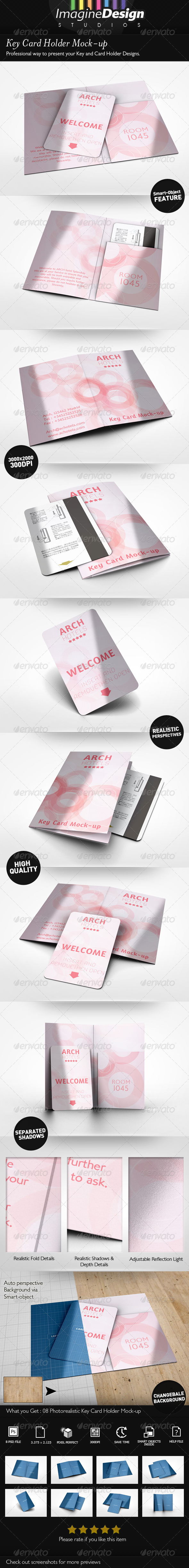 GraphicRiver Key Card Holder Mock-up 7793214