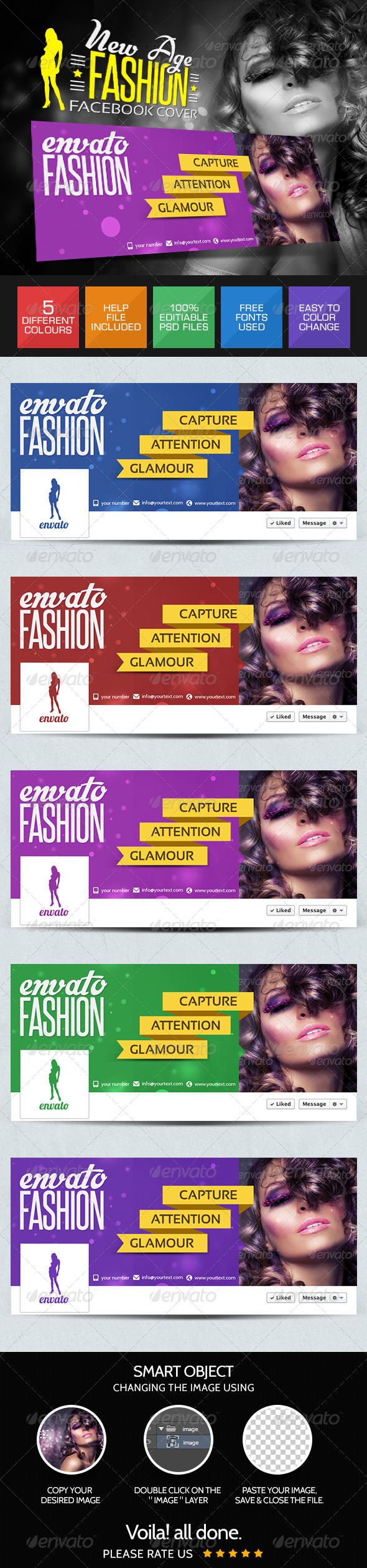 GraphicRiver New Fashion Facebook Covers 7809128