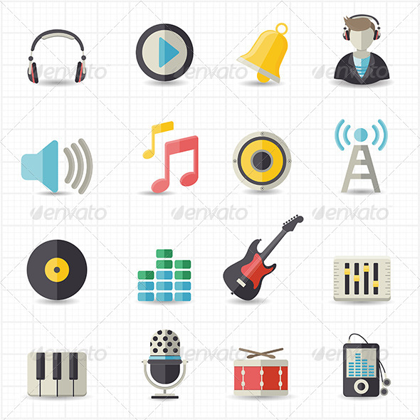 GraphicRiver Music Icons 7809937
