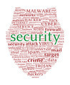 Internet Security Concept - Shield shaped word cloud - PhotoDune Item for Sale