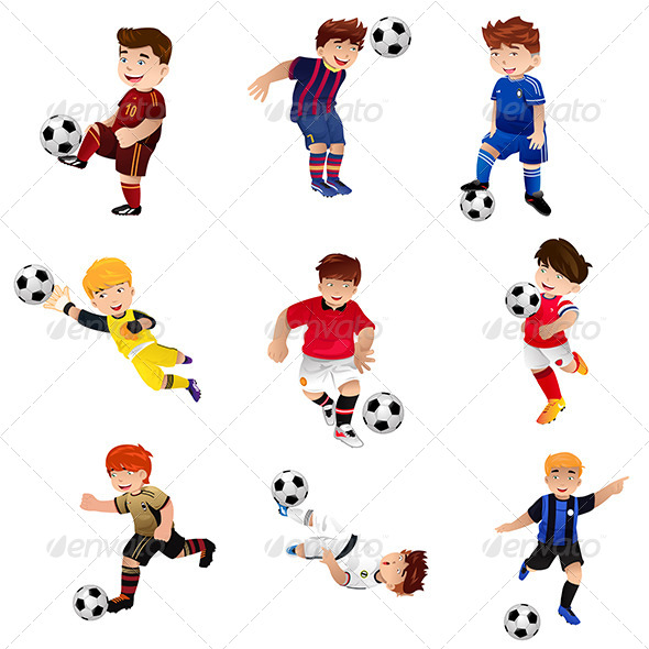 GraphicRiver Boys Playing Soccer 7810254