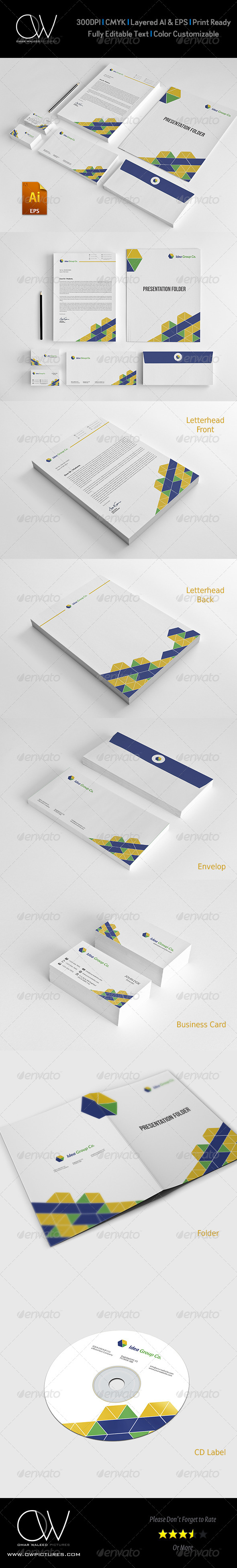 GraphicRiver Corporate Stationery Pack Design Template Vol.10 7812031