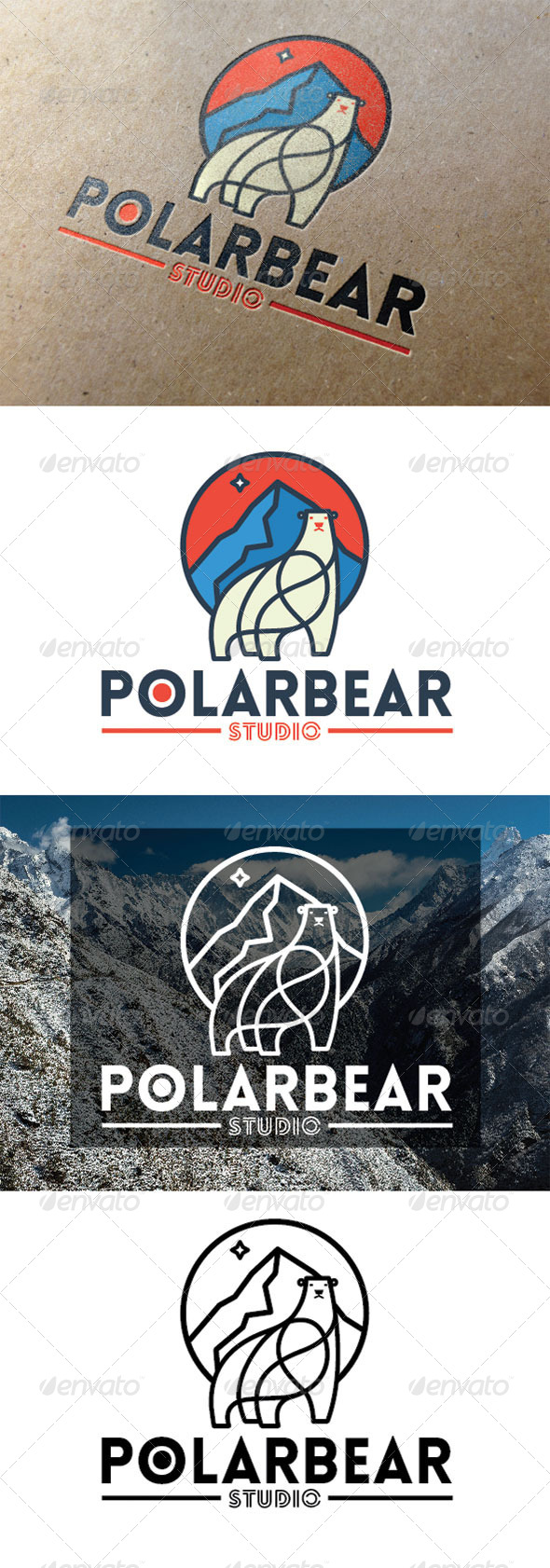 GraphicRiver Polar Bear Logo 7812105