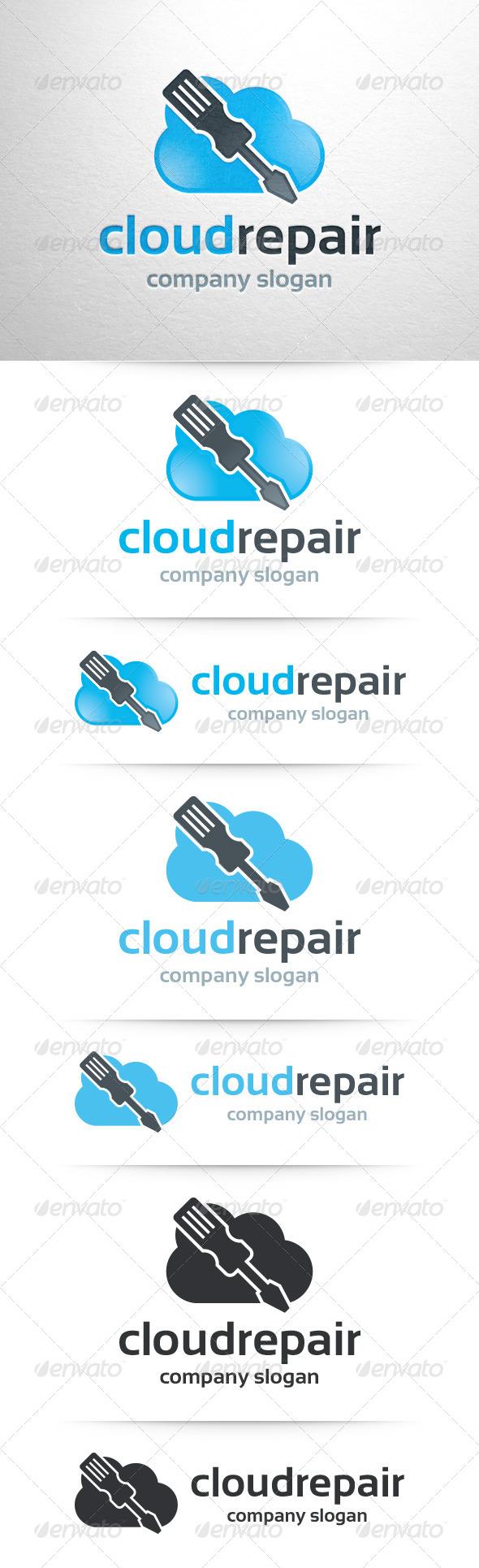 GraphicRiver Cloud Repair Logo Template 7812395