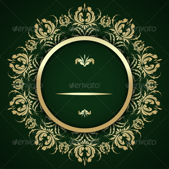 GraphicRiver Gold Pattern Calligraphy 7812477