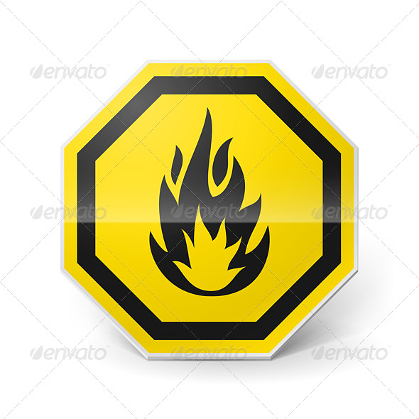 GraphicRiver Highly Flammable Sign 7812715