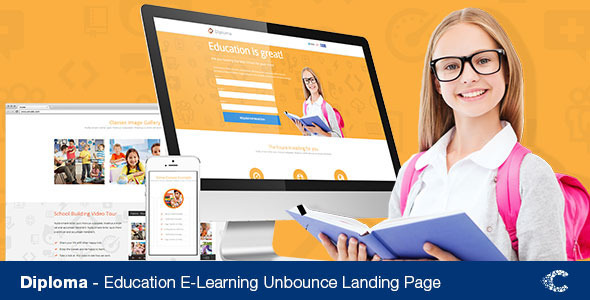 ThemeForest Diploma Unbounce Landing Page Template 7813878