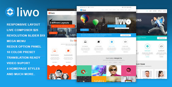 ThemeForest Liwo MultiPurpose WordPress Theme 7765008