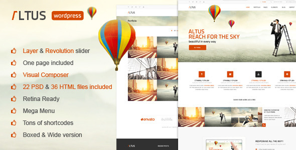 ThemeForest Altus Multi-Purpose Wordpress Theme 7814258