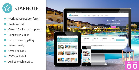 ThemeForest Starhotel Responsive Hotel Booking Template 7784956