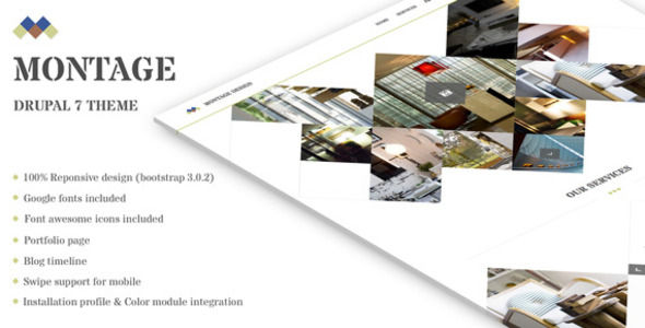 ThemeForest Montage Drupal 7 showcase theme 7814406
