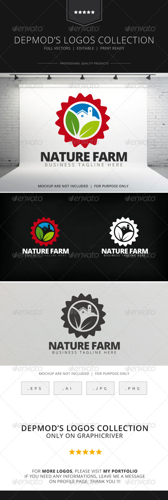 GraphicRiver Nature Farm Logo 7814534