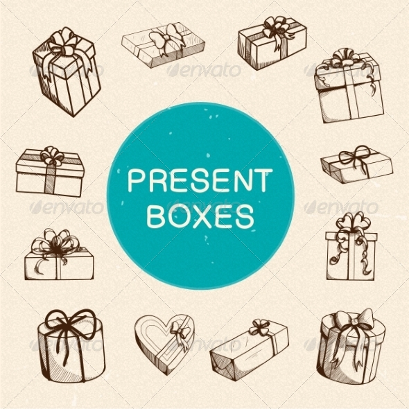 GraphicRiver Present Boxes Collection 7814790
