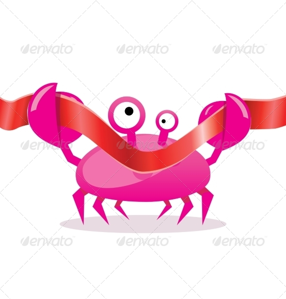 GraphicRiver Cartoon Crab Cutting Red Ribbon 7815077