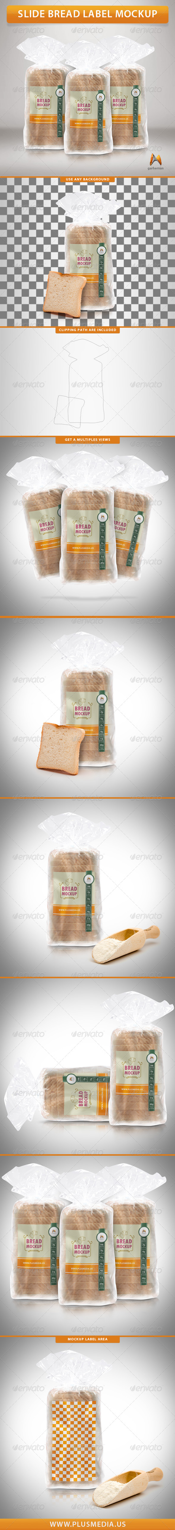 GraphicRiver Slide Bread Label Mockup 7815205