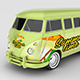 Classic Campervan Car Mock-Up - GraphicRiver Item for Sale