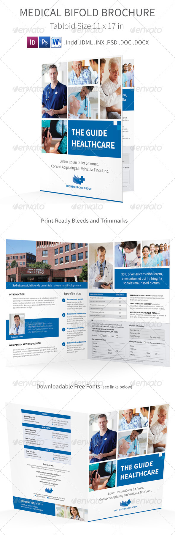 GraphicRiver Medical Bifold Halffold Brochure 7815242